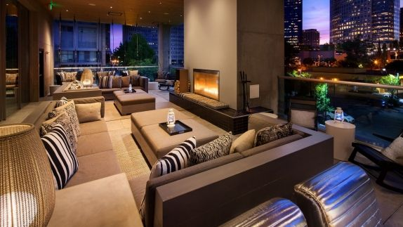 Downtown Bellevue Hotel Restaurants W Bellevue - Living Room And Bar Design